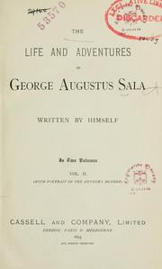 Cover of: The life and adventures of George Augustus Sala | George Augustus Sala
