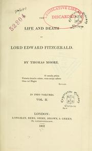 Cover of: The life and death of Lord Edward Fitzgerald | Thomas Moore
