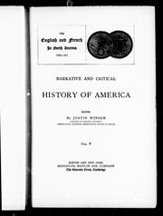 Cover of: Narrative and critical history of America |