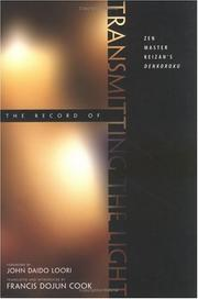 Cover of: The Record of Transmitting the Light | Francis Dojun Cook