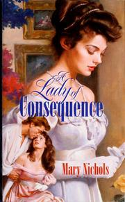 Cover of: A lady of consequence | Mary Nichols