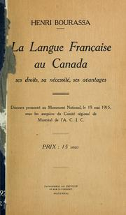 Cover of: La langue française au Canada