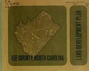 Cover of: Land development plan, Lee County, North Carolina by North Carolina. Division of Community Planning