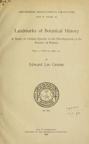 Cover of: Landmarks of botanical history | Edward Lee Greene