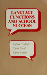 Cover of: Language functions and school success | Robert Eugene Shafer