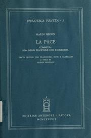 Cover of: La pace | Marin Negro