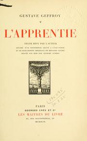 Cover of: L' apprentie | Gustave Geffroy