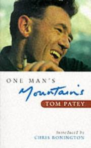 Cover of: One Man's Mountains (Canongate Mountaineering Literature)