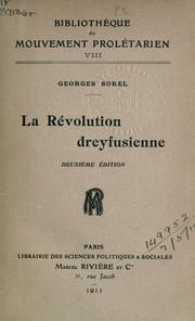 Cover of: La révolution dreyfusienne | Sorel, Georges
