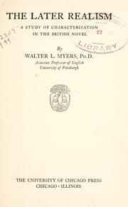 Cover of: The later realism | Walter Lawrence Myers