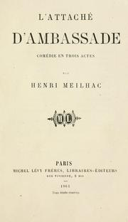 Cover of: L' attaché d'ambassade | Henri Meilhac
