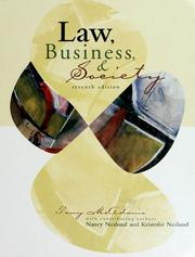 Cover of: Law, business, and society | Tony McAdams