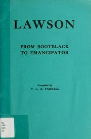 Cover of: Lawson, from bootblack to emancipator | Vera Lillian A. Farrell