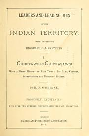 Cover of: Leaders and leading men of the Indian Territory by H. F. O'Beirne