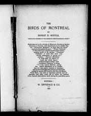 Cover of: The birds of Montreal |
