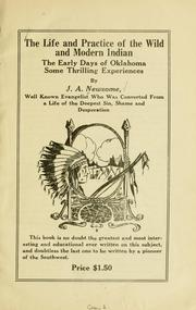 Cover of: life and practice of the wild and modern Indian | J. A. Newsome
