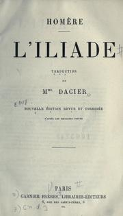 Cover of: L'iliade by Homer
