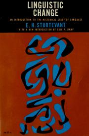 Cover of: Linguistic change | Edgar H. Sturtevant