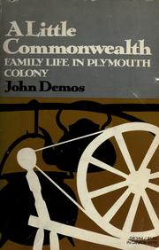 Cover of: A little commonwealth | John Demos