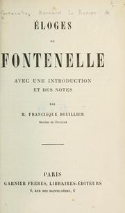 Cover of: Éloges | Fontenelle M. de
