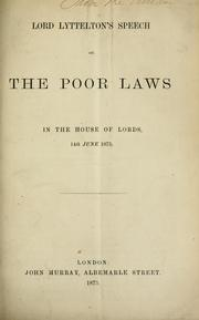 Cover of: Lord Lyttelton