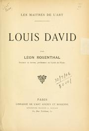 Louis David by Léon Rosenthal