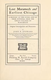 Cover of: Lost Maramech and earliest Chicago | John F[letcher] Stewart