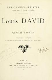 Louis David by Charles Saunier