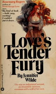 Cover of: Love's tender fury by Jennifer Wilde