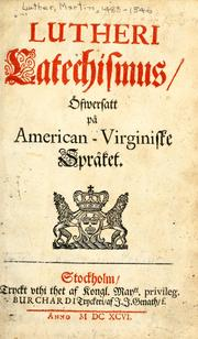 Cover of: Lutheri Catechismus | Martin Luther