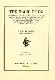 Cover of: The  magic of Oz by L. Frank Baum