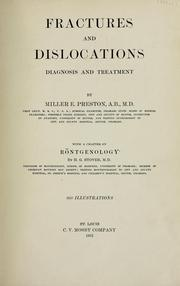 Cover of: Fractures and dislocations | Miller Edwin Preston