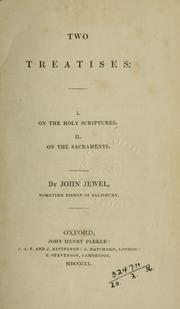 Two treatises: I. On the Holy Scriptures