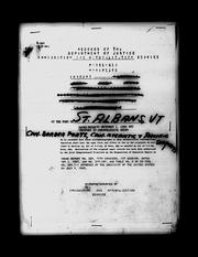 Cover of: Manifest of passengers arriving in the St. Albans, VT District through Canadian Pacific, and Atlantic Ports, 1895-1954