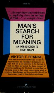 Cover of: Man's Search for Meaning | Viktor E. Frankl
