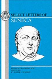Cover of: Select Letters of Seneca