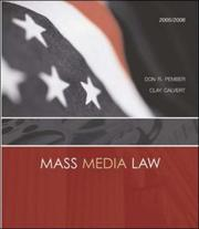 Cover of: Mass Media Law, 2005/2006 Edition with PowerWeb and Free Student CD-ROM | Don R. Pember