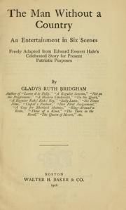 Cover of: The man without a country, ... | Gladys Ruth Bridgham