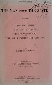 Cover of: man versus the state | Herbert Spencer