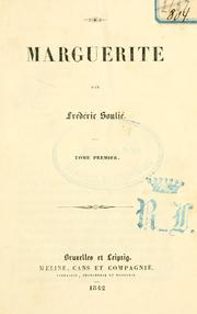 Cover of: Marguerite | Frédéric Soulié