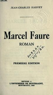 Cover of: Marcel Faure