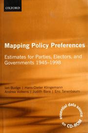 Cover of: Mapping policy preferences | Ian Budge ... [et al.].