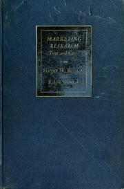 Cover of: Marketing research | Harper W. Boyd