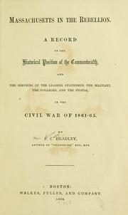 Cover of: Massachusetts in the rebellion by Headley, P. C.