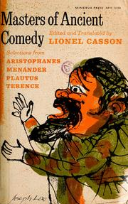 Masters of ancient comedy by Lionel Casson