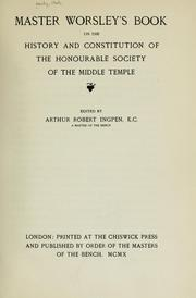 Cover of: Master Worsley