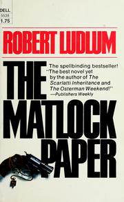 Cover of: The matlock paper | Robert Ludlum