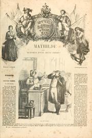 Mathilde : mémoires d'une jeune femme