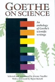 Cover of: Goethe on Science: a selection of Goethe's writings