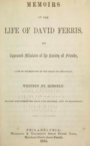 Cover of: Memoirs of the life of David Ferris | David Ferris